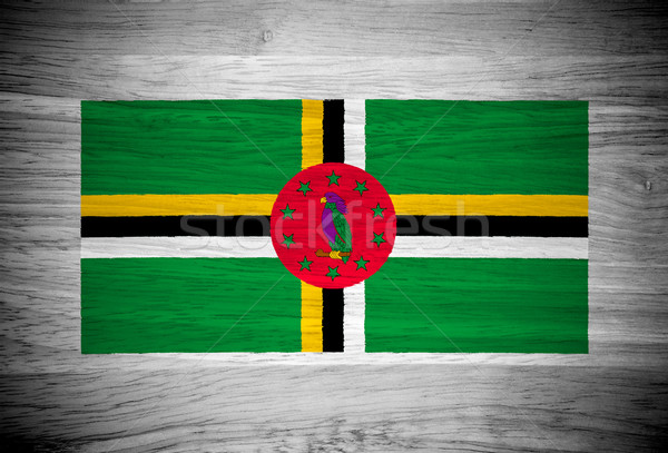 Dominica vlag houtstructuur muur natuur achtergrond Stockfoto © pinkblue