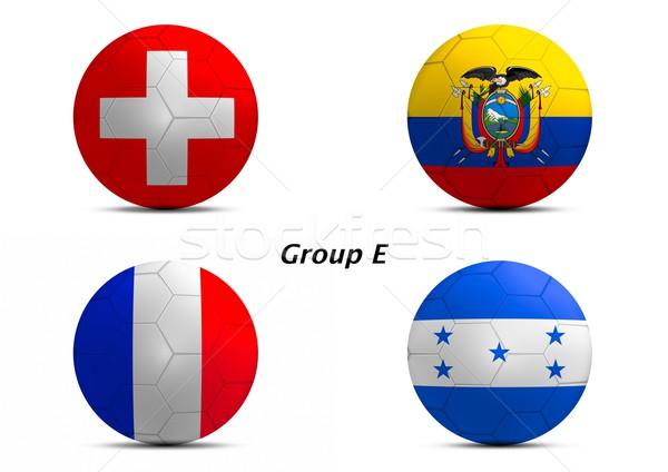 Gruppo Svizzera Ecuador Francia Honduras finale Foto d'archivio © pinkblue