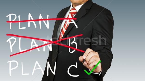 üzletember kiválasztott terv üzlet iroda papír Stock fotó © pinkblue
