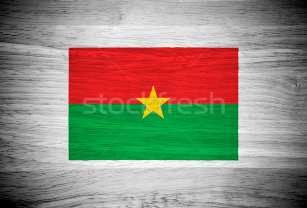 Burkina zászló fa textúra fal természet háttér Stock fotó © pinkblue