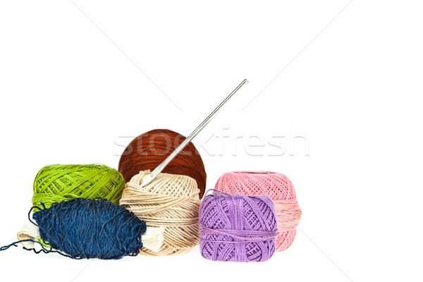 Renkli yün arka plan kumaş Stok fotoğraf © pinkblue