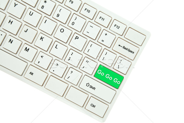 Wording Go Go Go  on computer keyboard isolated on white backgro Stock photo © pinkblue