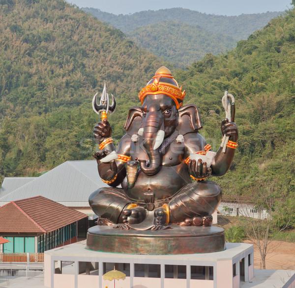 óriás Isten felső épület templom Thaiföld Stock fotó © pinkblue