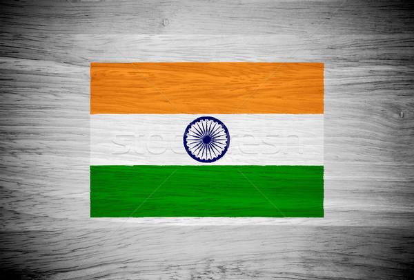 Индия флаг текстура древесины стены природы кадр Сток-фото © pinkblue