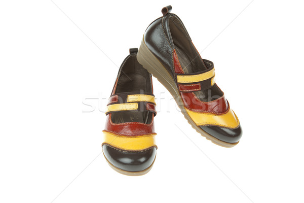 Stock photo: Women's shoes isolated on white background