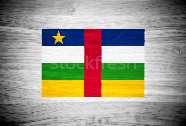 центральный африканских республика флаг текстура древесины текстуры Сток-фото © pinkblue