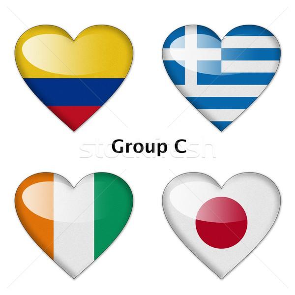 Grupo Colombia Grecia Costa de Marfil Japón final Foto stock © pinkblue
