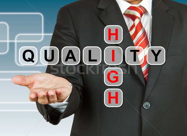 Businessman hand drawing High Quality Stock photo © pinkblue