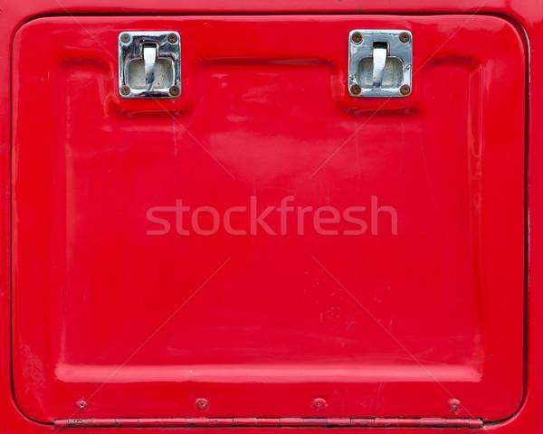 Czerwony szafka drzwi meble wolności żelaza Zdjęcia stock © pinkblue