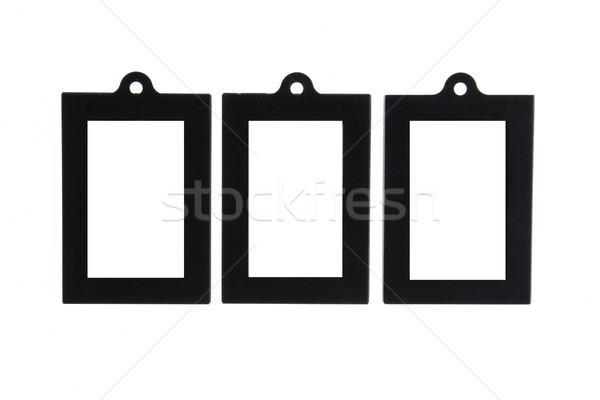 Three Black Picture Frame with Hole for Hanging Stock photo © pinkblue