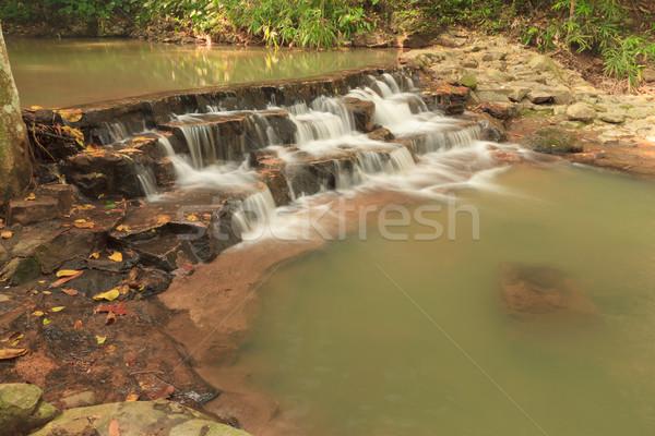 водопада парка Таиланд воды дерево горные Сток-фото © pinkblue