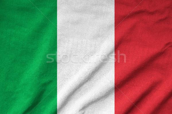 Ruffled Italy Flag Stock photo © pinkblue
