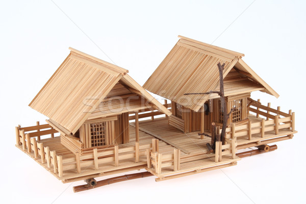 Country Style Wooden House Model Stock photo © pinkblue