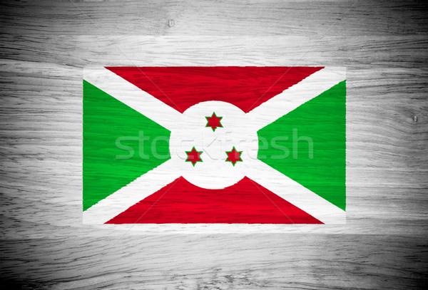 Boeroendi vlag houtstructuur muur natuur achtergrond Stockfoto © pinkblue