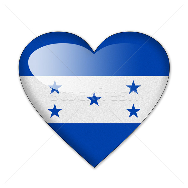 Honduras flag in heart shape isolated on white background Stock photo © pinkblue