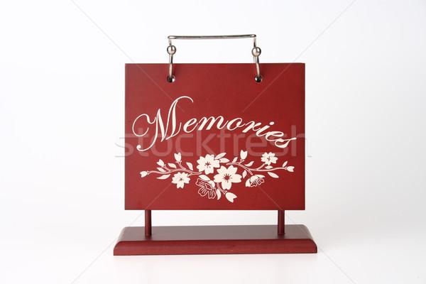 Ahşap resim albüm kapak hatıralar çiçekler Stok fotoğraf © pinkblue