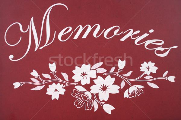 Edad Foto álbum cubrir recuerdos Foto stock © pinkblue