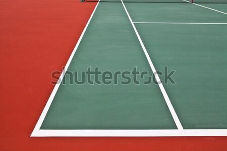 теннисный корт весны фон области зеленый службе Сток-фото © pinkblue
