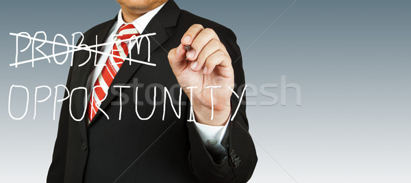 Businessman who eliminate problem with opportunity Stock photo © pinkblue