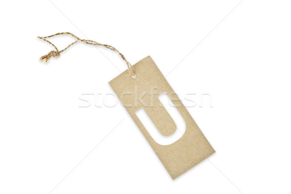 Brown paper tag with letter U cut Stock photo © pinkblue
