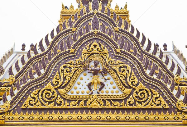 Detay dekore edilmiş tapınak çatı gökyüzü Bina Stok fotoğraf © pinkblue