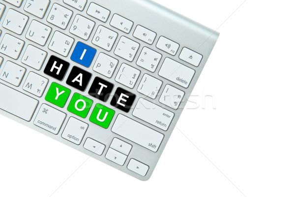 Odio aislado blanco oficina Internet Foto stock © pinkblue