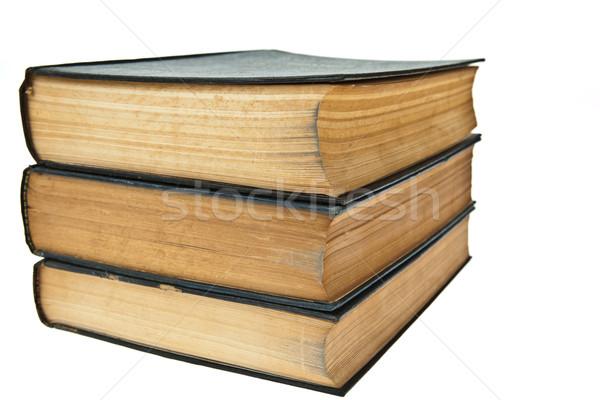 Eski kitaplar yalıtılmış beyaz kâğıt Stok fotoğraf © pinkblue