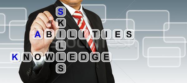 Stock fotó: üzletember · képesség · tudás · üzlet · internet · férfi