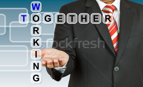 Zakenman business internet man pen Stockfoto © pinkblue