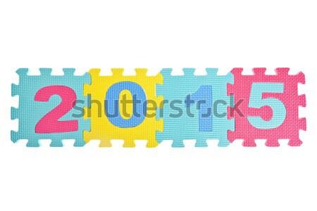 év 2013 szám puzzle izolált fehér Stock fotó © pinkblue