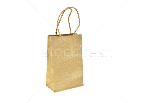 Brown mulberry paper bag isolated on white background Stock photo © pinkblue