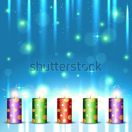 Сток-фото: Дивали · бомба · вектора · счастливым · свет · звездой