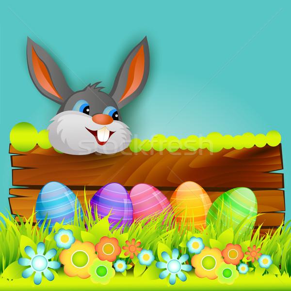 Stockfoto: Pasen · ontwerp · vector · Easter · Bunny · gelukkig · abstract
