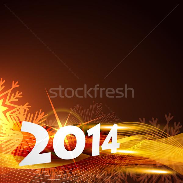 2014 с Новым годом вектора красивой пространстве счастливым Сток-фото © Pinnacleanimates