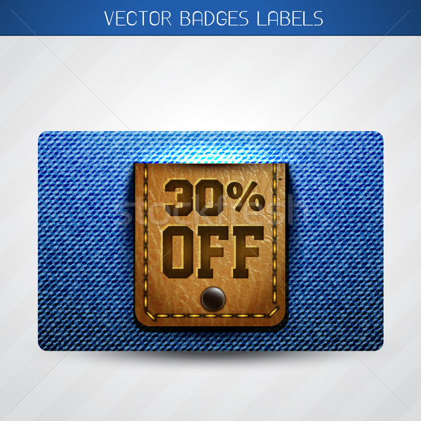 Bieden label leder jeans vector mode Stockfoto © Pinnacleanimates