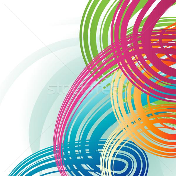 Vektor színes hullám illusztráció terv absztrakt Stock fotó © Pinnacleanimates