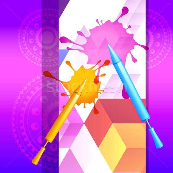 Stockfoto: Kleurrijk · spatten · stijlvol · festival · ontwerp · gelukkig