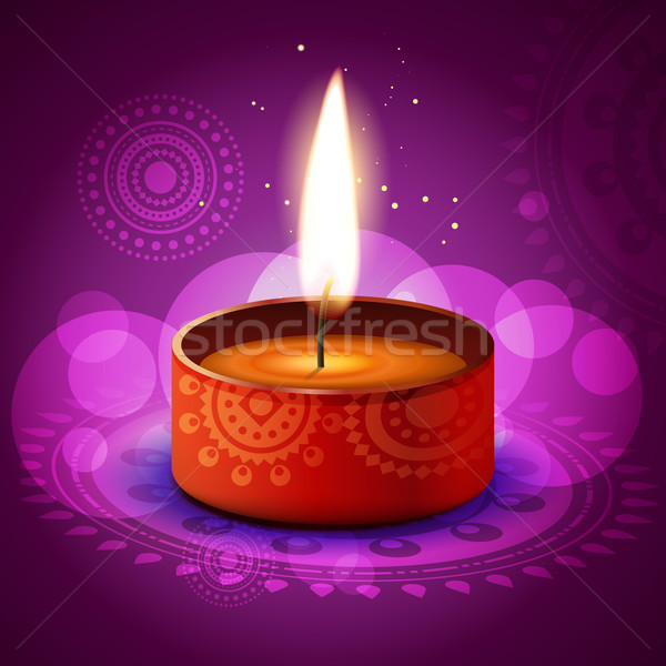 Stock photo: vector diwali diya
