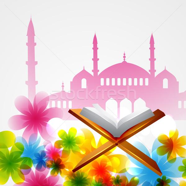 vector book of quran Stock photo © Pinnacleanimates