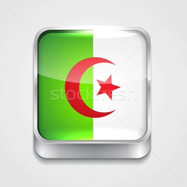 Bandeira Argélia vetor 3D estilo ícone Foto stock © Pinnacleanimates