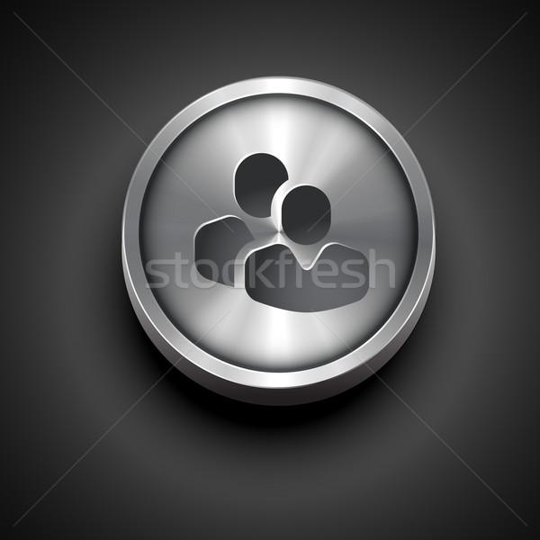 metallic teamwork icon Stock photo © Pinnacleanimates