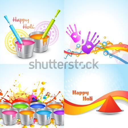 holi festival background Stock photo © Pinnacleanimates