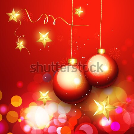 glowing christmas background Stock photo © Pinnacleanimates
