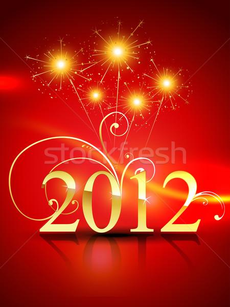 2012 feliz ano novo vetor projeto feliz abstrato Foto stock © Pinnacleanimates