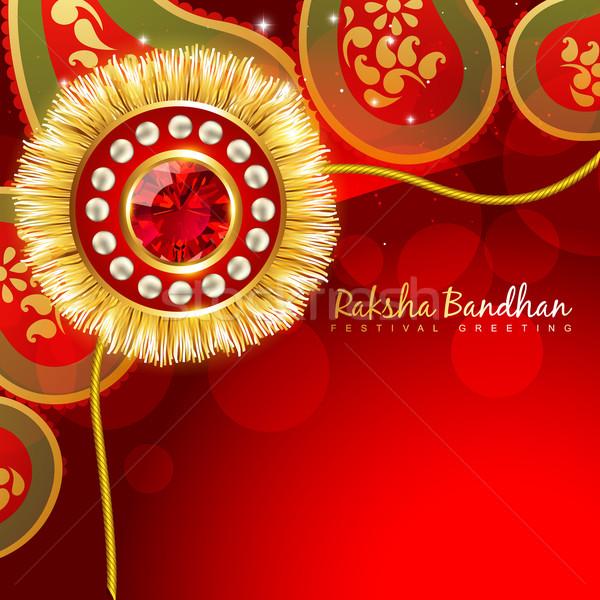 beautiful rakhi background Stock photo © Pinnacleanimates
