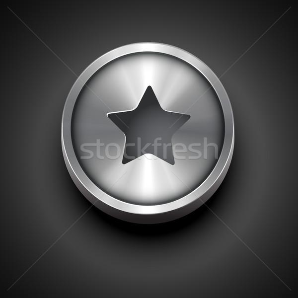 metallic star icon Stock photo © Pinnacleanimates