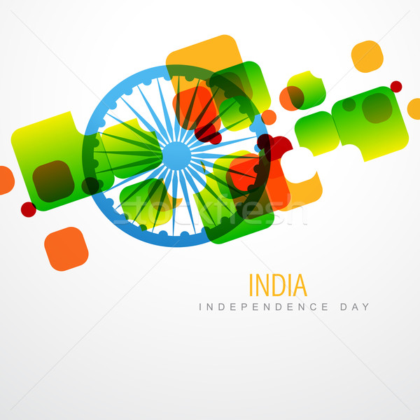 Foto stock: creative indian flag
