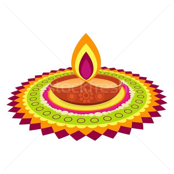 colorful diwali festival Stock photo © Pinnacleanimates