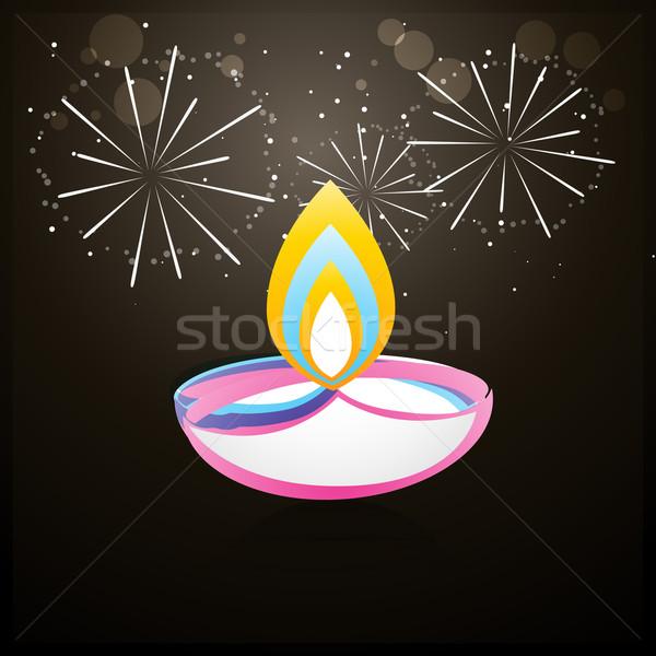 coloful diwali design Stock photo © Pinnacleanimates