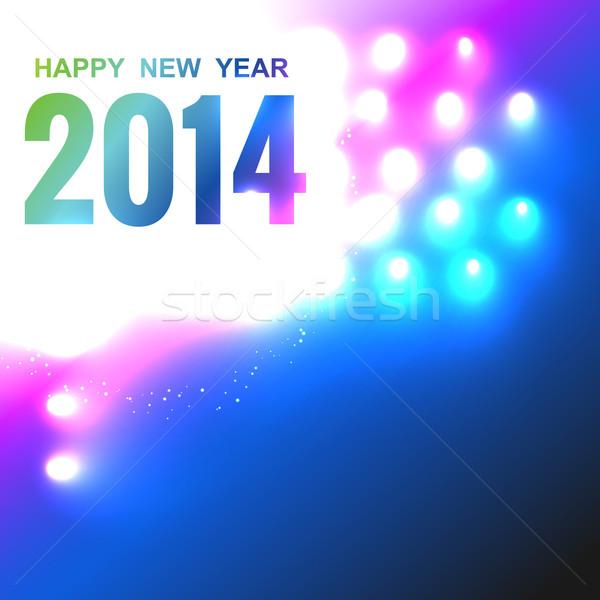 stylish new year greeting Stock photo © Pinnacleanimates